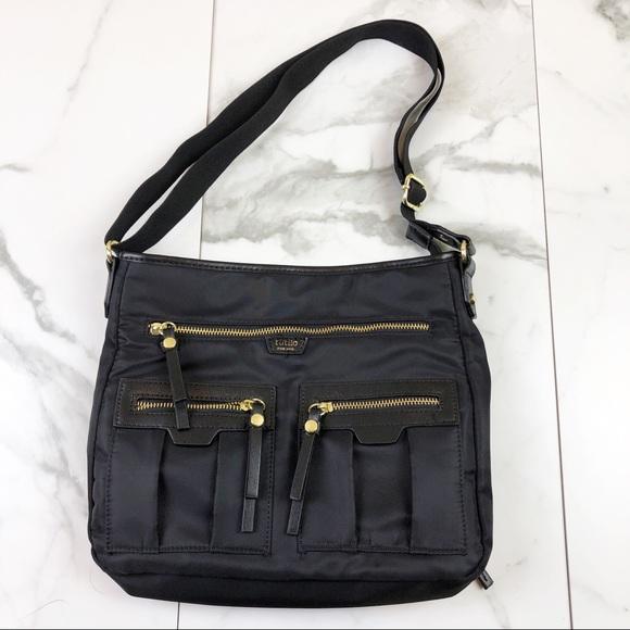 Tutilo Handbags - Tutilo• Black & Gold Cross Body Bag